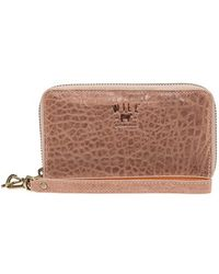 Will Leather Goods   'ida' Washed Italian Lambskin Leather Phone Wallet   Lyst