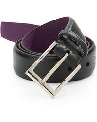 Ike By Ike Behar - 32mm Textured Leather Belt - Lyst
