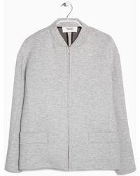 Mango Bomber Neoprene-Effect Jacket gray - Lyst