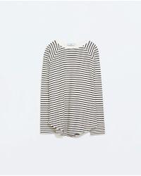 Zara Fleece T-shirt - Lyst