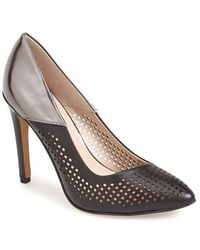 French Connection 'Maya 2' Perforated Two Tone Leather Pump - Lyst
