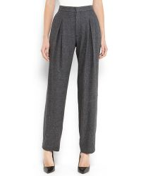 Theyskens' Theory Charcoal Plere Pleated Pants - Lyst