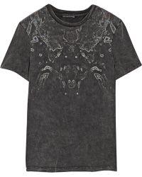 Theyskens' Theory Cay Printed Cotton Tshirt - Lyst