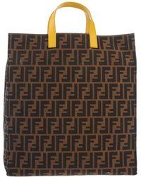 Fendi Khaki Hand Bag - Lyst