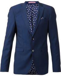 Sand Two Piece Suit - Blue