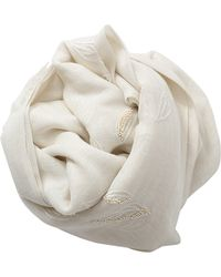 Pashma - Beaded Leaves Scarf - Lyst