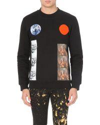 Raf Simons Planet Circle Cotton-jersey Sweatshirt - Lyst