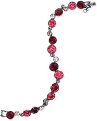 Givenchy Hematite-tone Red Crystal Flex Bracelet - Lyst
