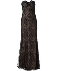 Notte By Marchesa Strapless Lace Gown - Lyst