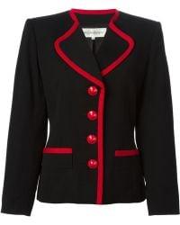Yves Saint Laurent Vintage Fitted Jacket - Lyst