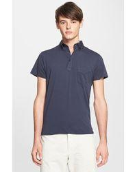 Officine Generale Cotton Jersey Polo - Lyst