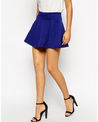 AX Paris Quilted Skater Skirt - Lyst