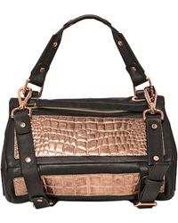 Golden Lane | Small Duo Crocodile Print Leather | Lyst