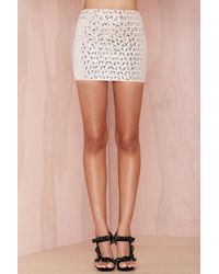 Nasty Gal Reflect On It Beaded Skirt - Lyst