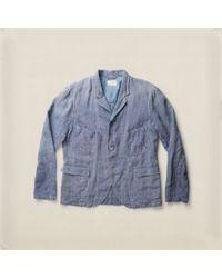 RRL Williamson Indigo Linen Jacket - Blue
