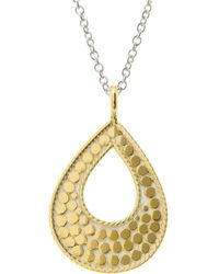 "Anna Beck - Sulawesi Teardrop Necklace, 16"" - Lyst"