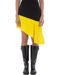 Balenciaga Colorblock Asymmetric-hem Skirt - Lyst