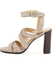 Stuart Weitzman Soundtrack High City Sandal brown - Lyst