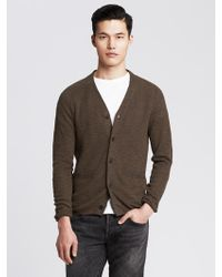 Banana Republic Heritage Slubbed Linen Cotton Cardigan - Lyst