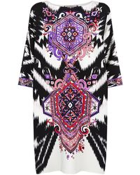 Emilio Pucci Suzani Cady Shift Dress - Lyst