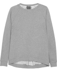 Lot78 Gray Cotton-jersey Sweatshirt - Lyst