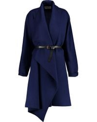 Vionnet - Belted Wool And Angora-blend Coat - Lyst