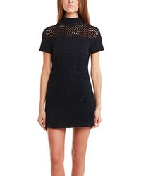 Charlotte Ronson Mini Dress With Crochet blue - Lyst