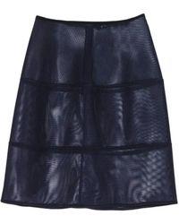 Jil Sander Navy Gonna Navy Mesh Skirt - Lyst