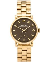 Marc By Marc Jacobs Baker Gold-Toned Stainless Steel Watch - Lyst