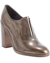 Reed Krakoff - Bronze Shined Leather Oxford Pumps - Lyst