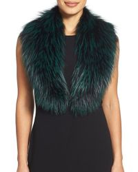 Badgley Mischka - Genuine Fox Fur Collar - Lyst