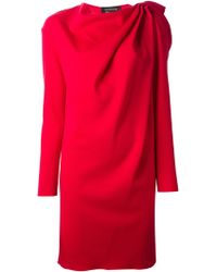 Lanvin Long Sleeve Dress - Lyst