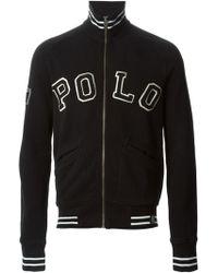 Polo Ralph Lauren Logo Zipped Cardigan - Lyst