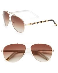 Ted Baker Jace Aviator Sunglasses - Lyst