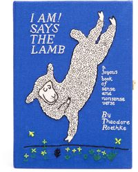 Olympia Le-Tan I Am! Says The Lamb Embroidered Felt Clutch - Lyst