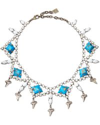 Dannijo Dane Shark-tooth Crystal Collar Necklace - Lyst