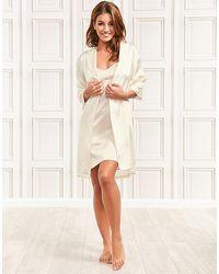 Julianne Coco Silk Robe - Natural