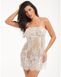 Figleaves Gigi Galloon Lace Chemise - White