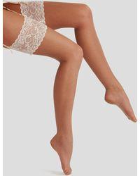 Charnos - 10 Denier Bridal Lace Stocking - Lyst
