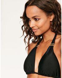 Figleaves - Rene Black Soft Triangle Bikini Top - Lyst