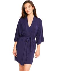 CALVIN KLEIN 205W39NYC - Seductive Comfort With Lace Robe - Lyst