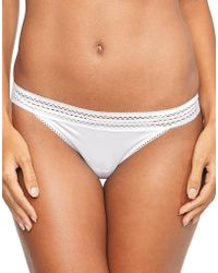 DKNY - Classic Cotton Lace Trim Thong - Lyst
