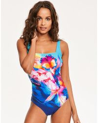 Gottex - Hawaii Square Neck Tummy Control Swimsuit - Lyst