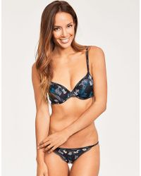 Calvin Klein - Sheer Marquisette With Lace Demi Lightly Lined - Lyst