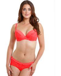 Curvy Kate - Siren Padded Plunge Bikini Top - Lyst