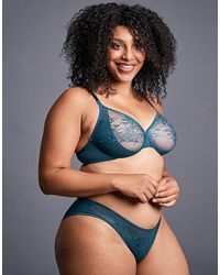 Gossard Glossies Lace Sheer Bra - Blue