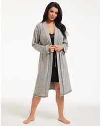 Figleaves Super Soft Lounge Robe - Grey