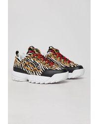 Fila Womens Disruptor Ii Animal Print Chunky Sneaker - Multicolor