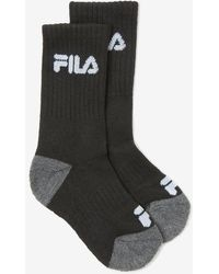 Fila Kids' Cushioned Crew Sock 6-pack - Black