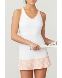 Fila Mad For Plaid Dress - White